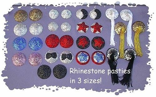Rhinestone Pasties made by Burlesque Costumes